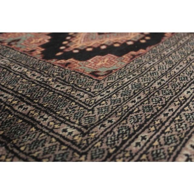 "Textile Bokara Arya Kum Black & Brown Wool Rug - 10'3"" x 13'11"" For Sale - Image 7 of 7"