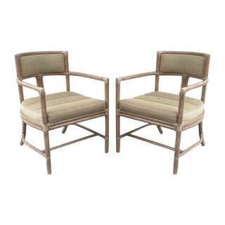McGuire Manhattan Chairs - Set of 4 For Sale