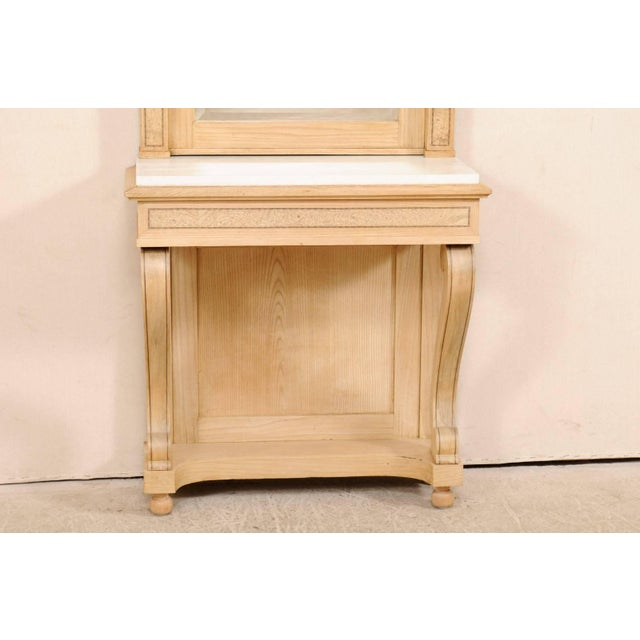 Swedish Empire Period Elm Wood Console With Marble Top From Early 19th Century For Sale In Atlanta - Image 6 of 11