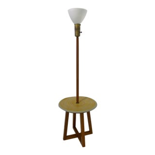 Lamp Table with Ceramic Shelf by Design Technics For Sale