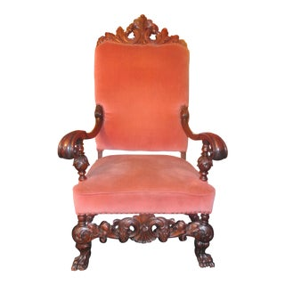 Antique Empire Throne Chair For Sale