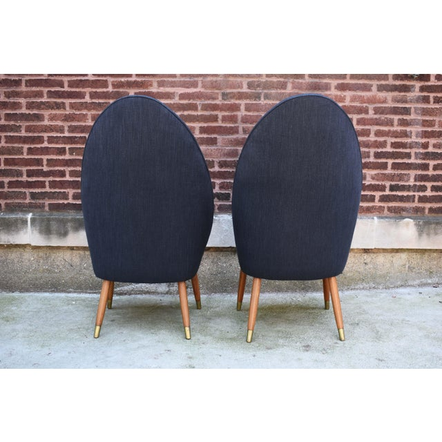 Nanna Ditzel Mid Century Modern Slipper Chairs - a Pair For Sale - Image 4 of 10