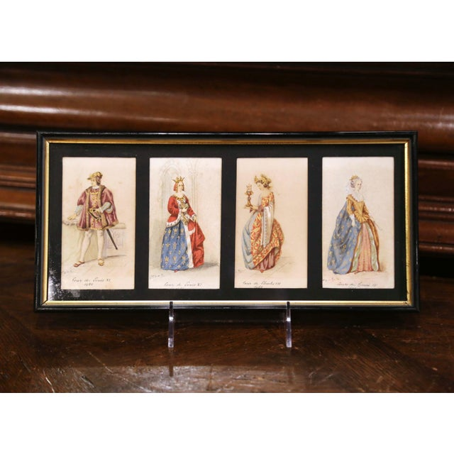 Decorate a bathroom or a walking closet with this collection of antique prints. Crafted in France during the Napoleon III...