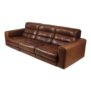 1970s De Sede Reclining Sofa in Buffalo Hide Leather For Sale