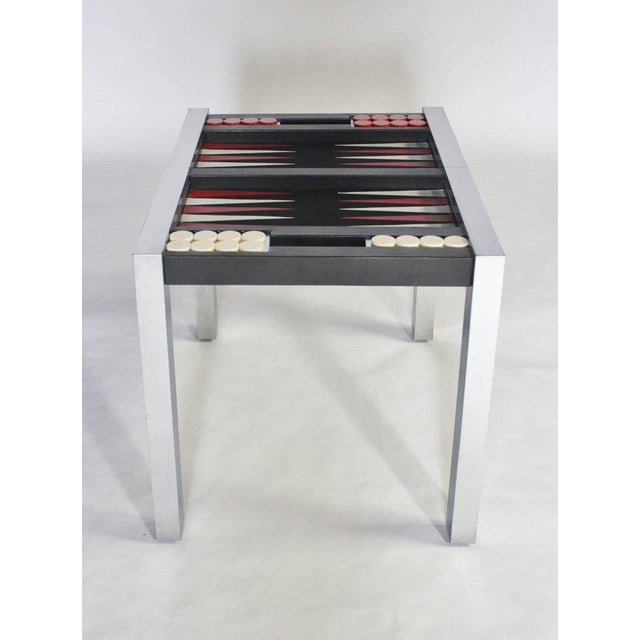 Metal Paul Evans Directional Backgammon Game Table For Sale - Image 7 of 11
