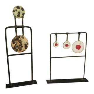 Antique Carnival Soft Ball Targets - a Pair For Sale