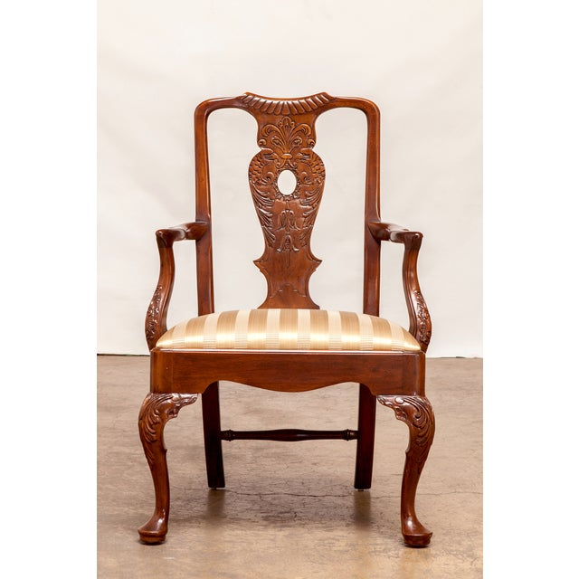 Carved Mahogany Georgian Style Dining Chairs - 12 - Image 2 of 10