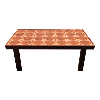 Danish Rosewood & Tile Top Coffee Table For Sale