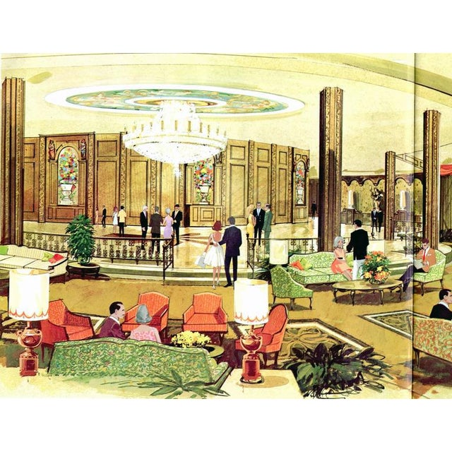 Offering the last surviving ceramic panel from the lobby of the Hilton Plaza Hotel in Miami Beach. Jackie Gleason was...