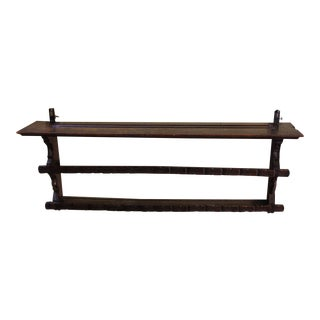 Late 19th Century Oak Hanging Shelf For Sale