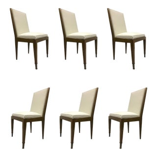 Marc Duplantier Rare Set of 6 Oak Dining Chairs For Sale