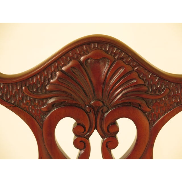 Chippendale Carved Mahogany Dining Room Side Chairs - Set of 16 - Image 9 of 13