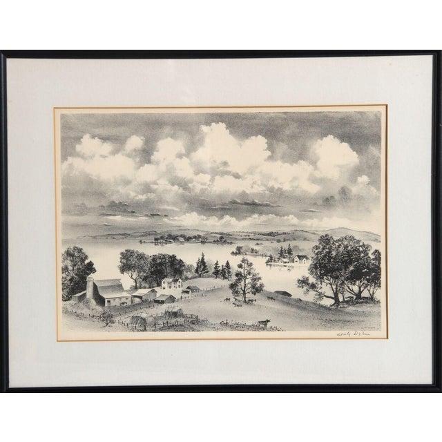 "Adolf Arthur Dehn, ""Lake Country,"" Lithograph - Image 1 of 2"