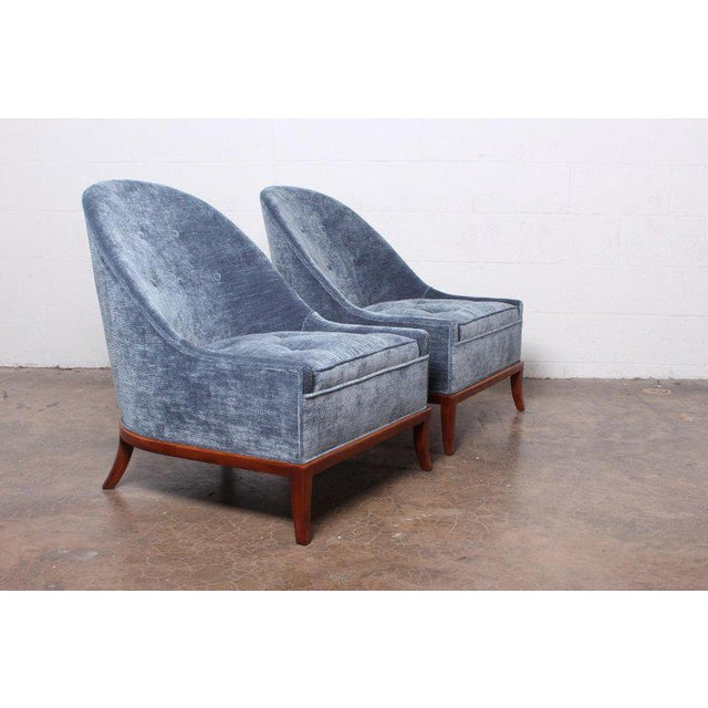 Pair of Slipper Chairs by t.h. Robsjohn-Gibbings for Widdicomb For Sale In Dallas - Image 6 of 12