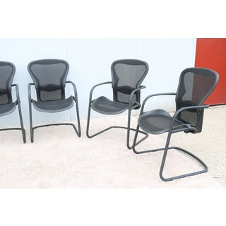 Modern Herman Miller Ergonomic Aeron Side Guest Chairs Size B- Set of 6 Preview