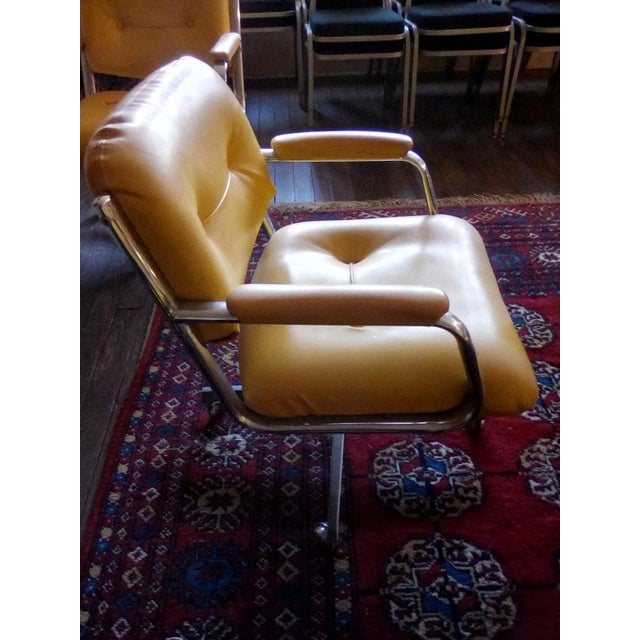 1960 Vintage Yellow Captain Chairs - Set of 8 For Sale In San Antonio - Image 6 of 7