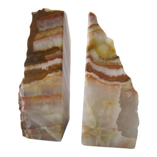 Agate Geode Bookends - A Pair For Sale