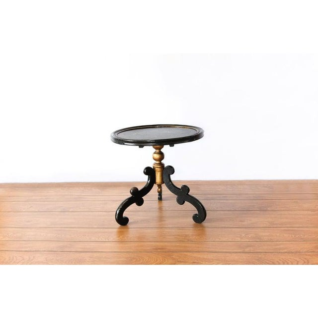 Tan 1880s Round Chinoiserie Occasional Table For Sale - Image 8 of 8