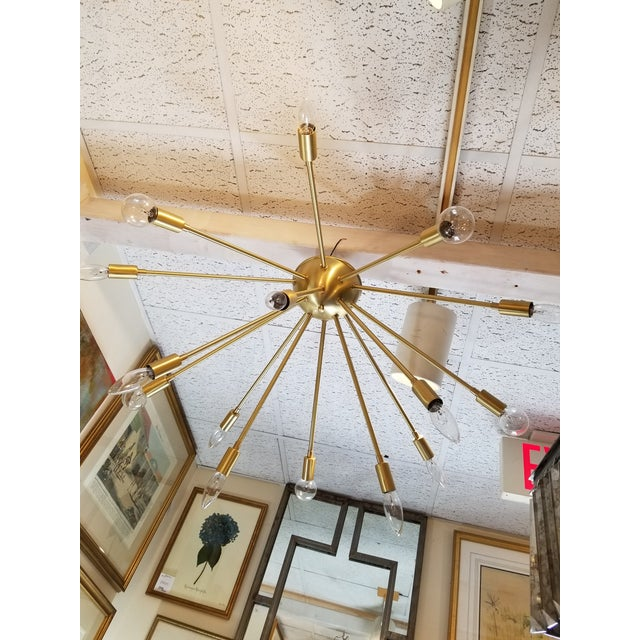 Vintage Gold Chandelier For Sale In New York - Image 6 of 6
