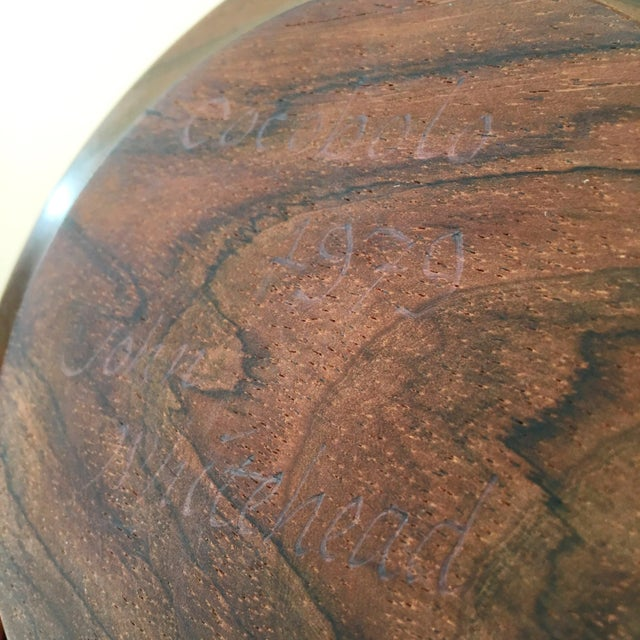 Brown Hand Carved Cocobolo Wood Bowl For Sale - Image 8 of 11