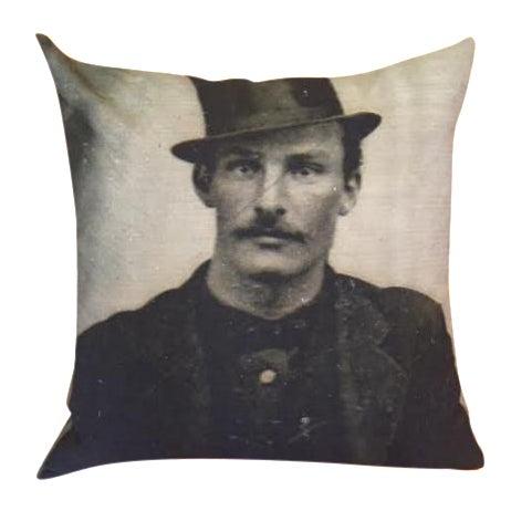 Daguerreotype Mug Shot Throw Pillow Cover - Image 1 of 4