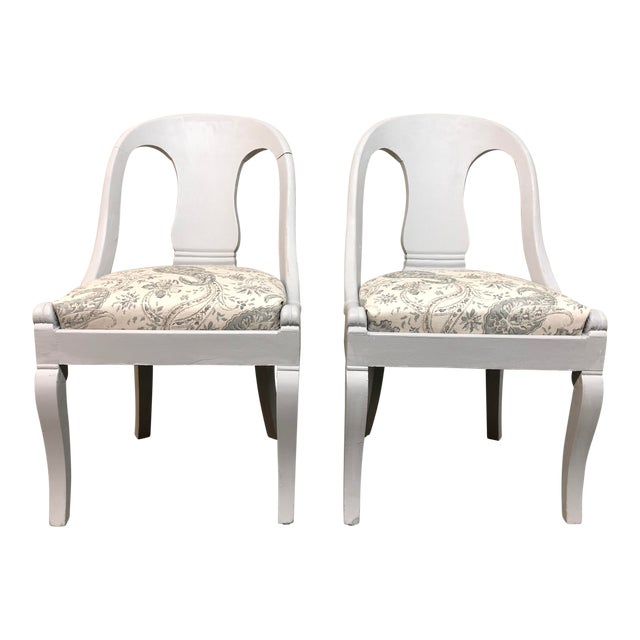 Vintage Chalk Paint Chairs - a Pair For Sale