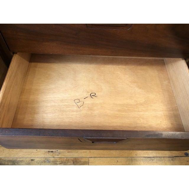 Mid Century Walnut Credenza Style Lowboy Dresser 1960's For Sale - Image 9 of 13