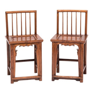 Pair of Chinese Spindleback Chairs For Sale