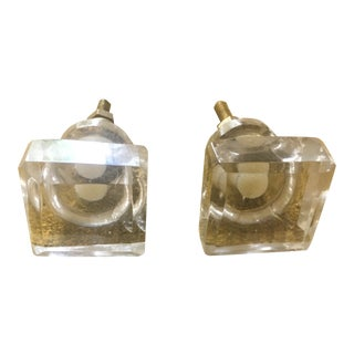 Anthropologie Square Glass Knobs - Pair For Sale