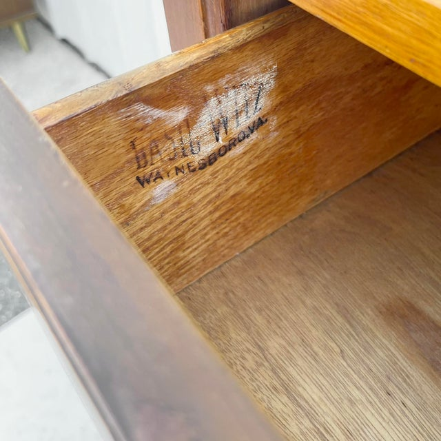 Mid-Century Highboy Dresser From Basic-Witz For Sale - Image 10 of 13