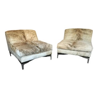 Nathan Anthony Baci Cowhide Chairs- A Pair For Sale