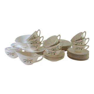 1960s Vintage Knowles Forsythia Dinnerware Service Set - 44 Pieces For Sale