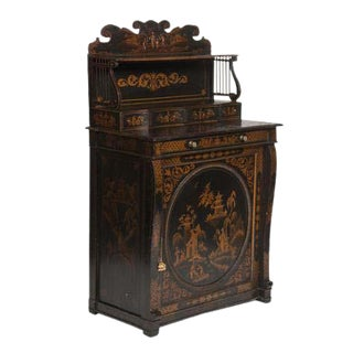 Japanned Black and Gilt Chiffonier For Sale