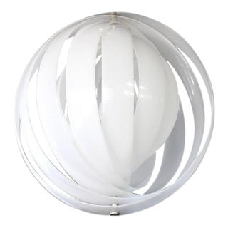 Vintage Mid Century Panton Moon Pendant For Sale