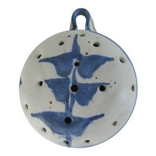 Handmade Pottery Strainer