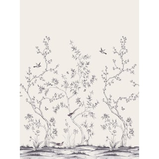 Chinoiserie Garden, Shadow Wallpaper For Sale