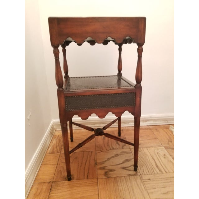 Asian Asian Antique Theodore Alexander Side Table For Sale - Image 3 of 8