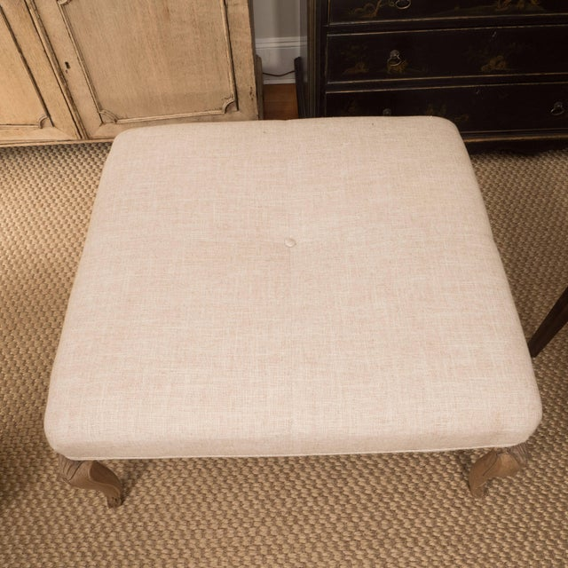 French Square French Ottoman For Sale - Image 3 of 8