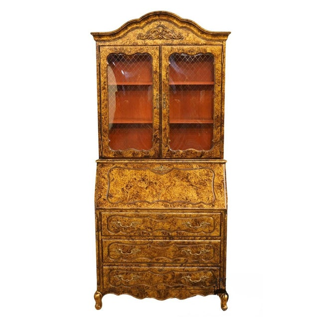 Late 20th Century Vintage Jasper Cabinet Secretary Desk For Sale - Image 13 of 13
