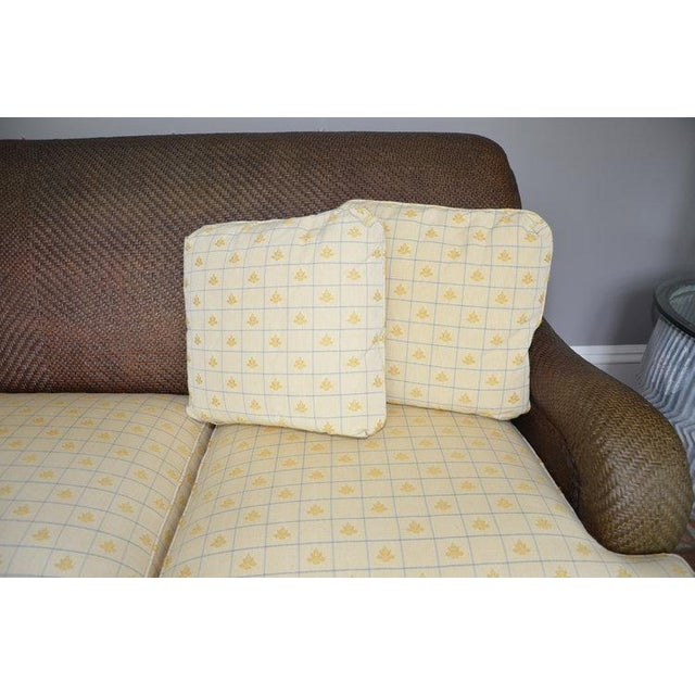 Hickory Chair Company Rattan Three Seat Sofa Couch - Image 6 of 8