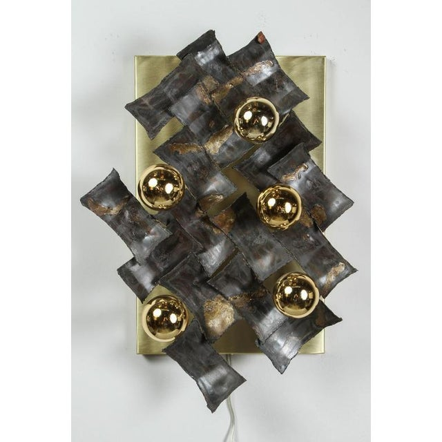 Mid-Century Brutalist Flush Mount Fixture For Sale In Los Angeles - Image 6 of 9