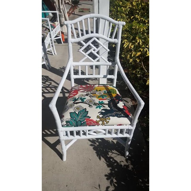 Vintage Chippendale White Lacquered Chairs - Set of 6 - Image 6 of 9