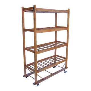 19th Century American Cobbler's Shoe Drying Wood Rack