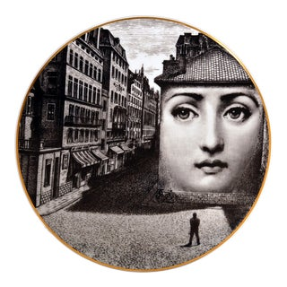 Rosenthal Piero Fornasetti Themes & Variation Porcelain Plate, Motiv 5 For Sale
