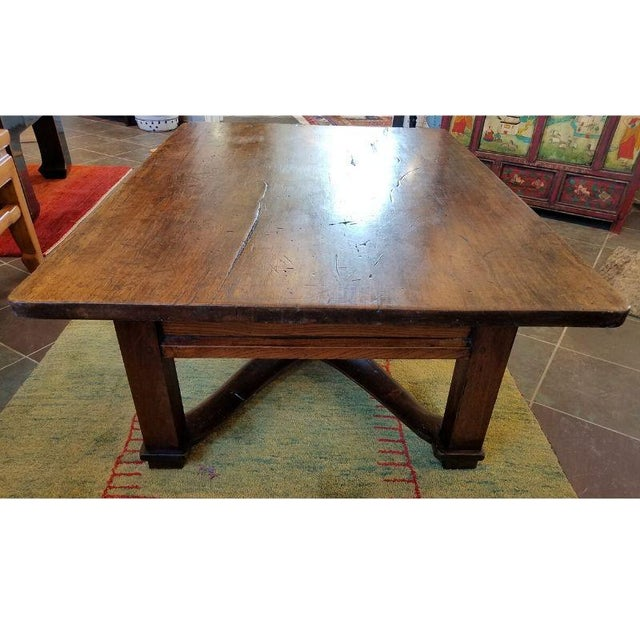 Brown Rustic French Oak Coffee Table For Sale - Image 8 of 10