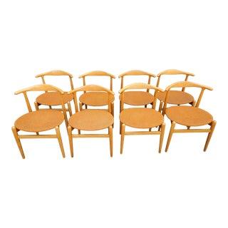Hans J. Wegner Dining Chairs - Set 8 For Sale