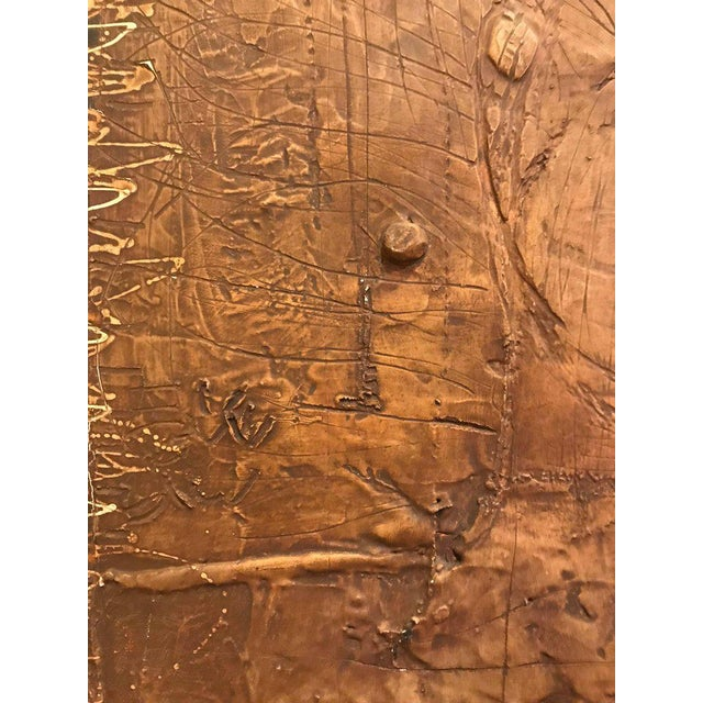 MCM Fine Abstract Oil on Board Signed by Michels Dated 1961, 'Copper Bleeding' For Sale In New York - Image 6 of 11