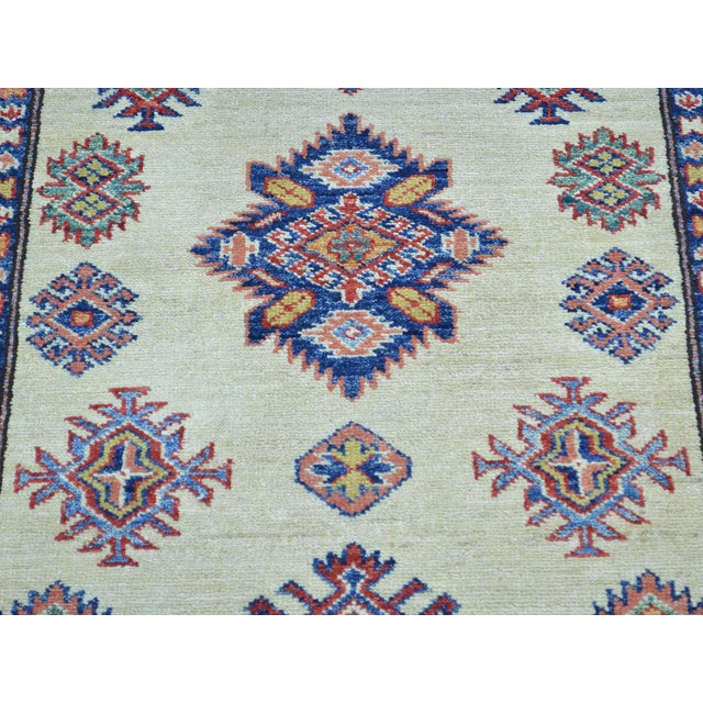 Shahbanu Rugs Kazak Ivory Hand Knotted Pure Wool Rug- 2′10″ × 10′ For Sale - Image 4 of 6