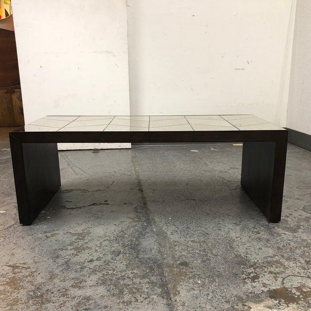West Elm Herringbone Mirrored Coffee Table Chairish