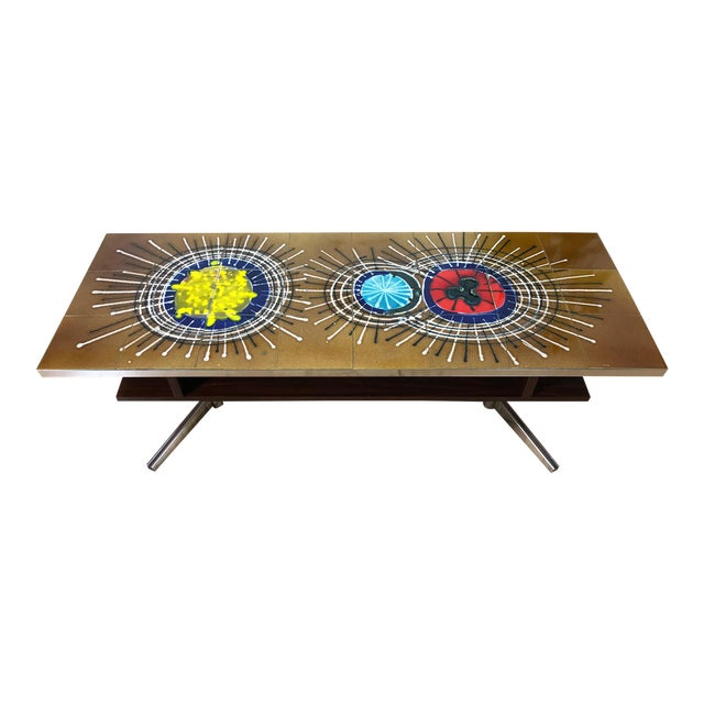 Mid Century Tile Top Coffee Table - Image 1 of 7